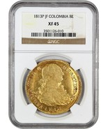 Colombia: 1813-P JF 8 Escudos NGC XF45 (KM# 66.2) - Colombia - .7614 oz ... - $2,027.30