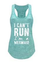 Tough Cookie's Women's I Can't Run, I'm A Mermaid Burnout Tank Top Large... - $18.85