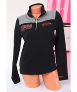 PINK VS Collegiate Collection Arkansas Those Hogs 1/4 zip Jacket Size XS... - $47.99