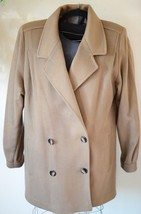 Vintage Jill Jr 100% Wool Pea Coat Women's Brown Double Breasted Made In... - $34.64