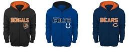 NFL Boy's 8-18 STATED Hoodie Full Zip Hooded Sweatshirt Licensed NEW