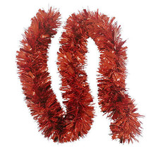Darice Christmas Tinsel Garland: Red, 5.91 inches x 6 feet w - $8.99