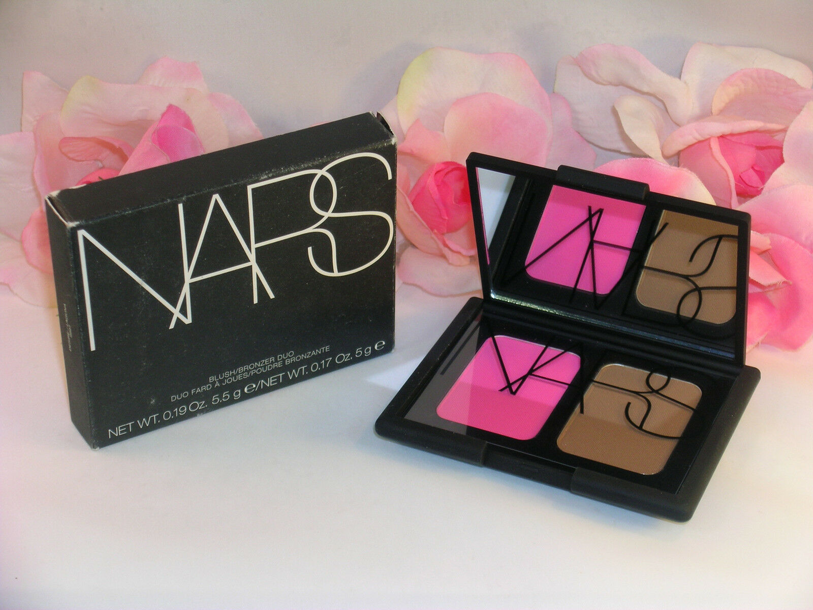 Primary image for New NARS Blush & Bronzer Compact Duo Desire & Laguna .19 /.17 oz 5.5 / 5 g Pink