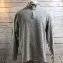 Polo Ralph Lauren Gray Rib Half Zip Pull Over Sweater Color Pony NWT Mens Size L - $57.15