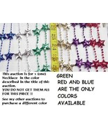 MARDI GRAS BEADS RED STAR NECKLACE - $1.00