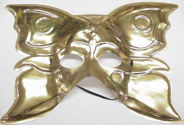 Mardi Gras Mask Golden Butterfly