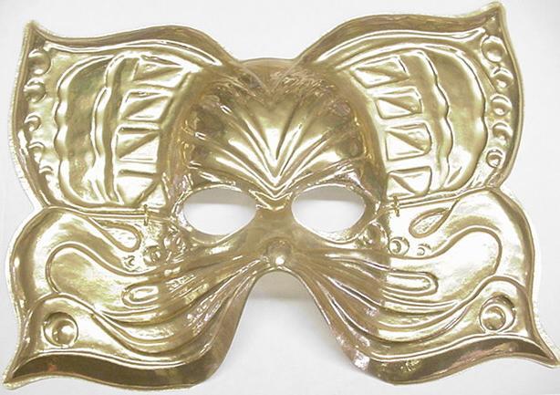 Mardi Gras Mask Golden Butterfly (Item #2)