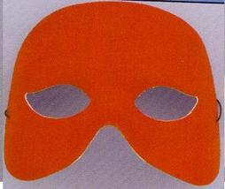 MARDI GRAS MASK RED FABRIC HALF MASK - $4.00