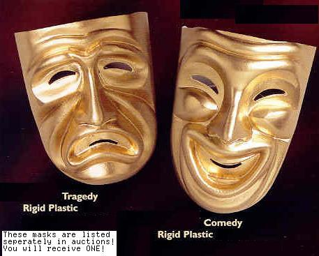 Mardi Gras Theater Comedy Mask >:)