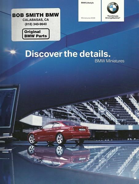 2008 BMW MINIATURES sales brochure catalog diecast toys RC M
