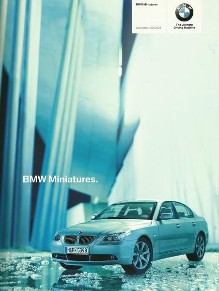2003/2004 BMW MINIATURES brochure catalog diecast toys RC M