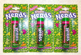 Nerds Apple Candy Flavored Lip Balm Gloss 3 Pack New Sealed Lotta Luv - $4.98