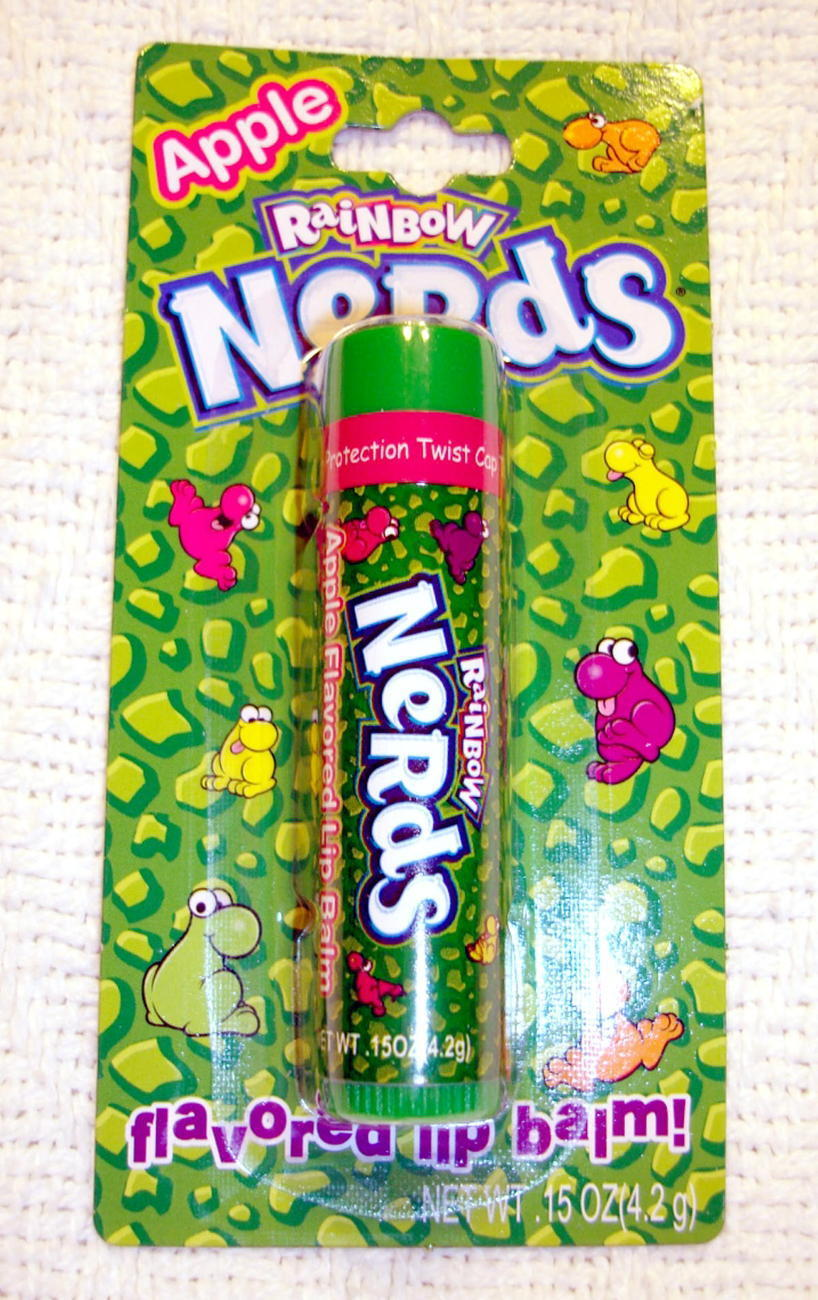 Nerds Apple Candy Flavored Lip Balm Gloss 3 Pack New Sealed Lotta Luv