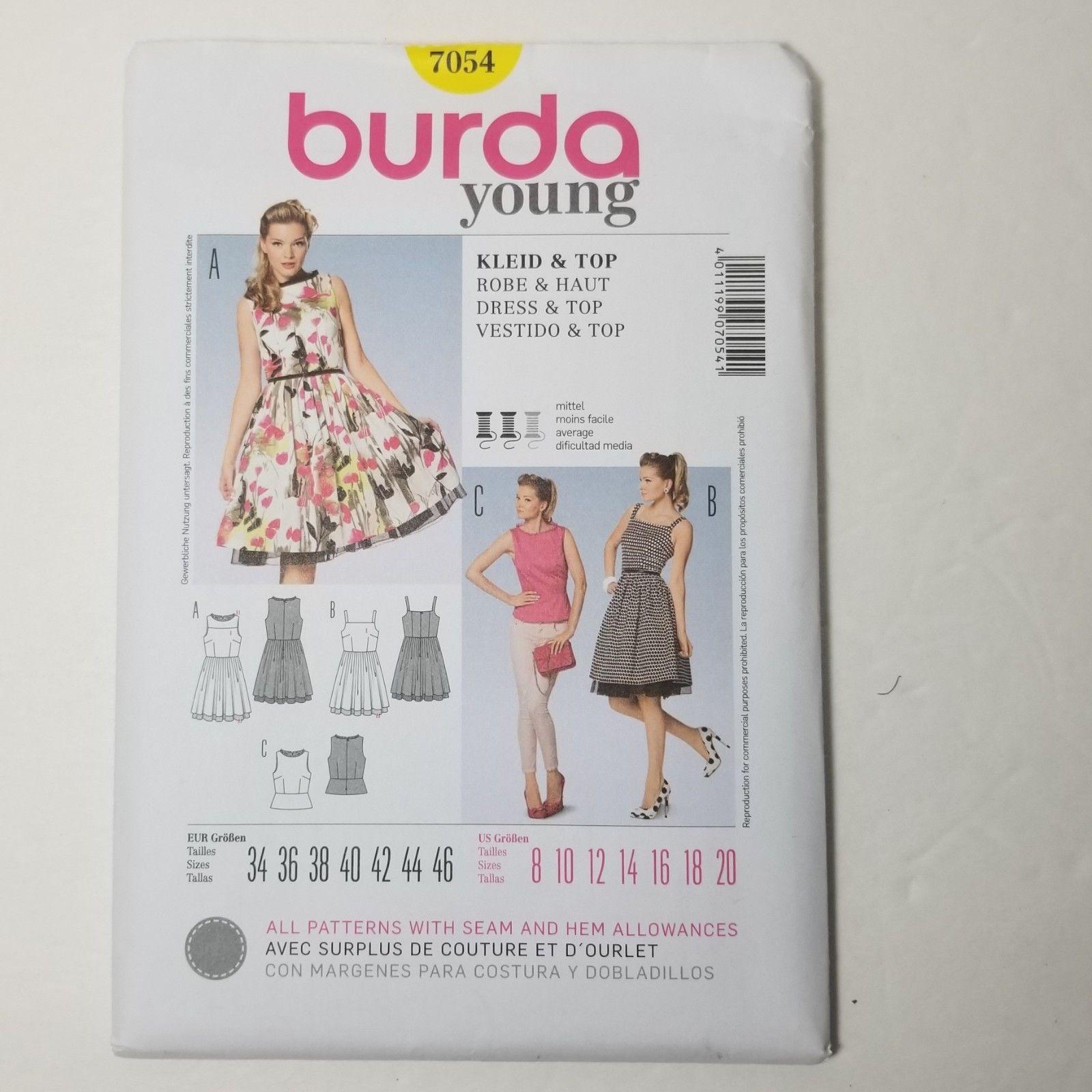 Burda 7054 Sewing Pattern: 1 listing