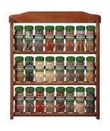 McCormick Gourmet Spice Rack, Brown, 3 Tier Wood 24-Count, Herbs Spices ... - $140.37