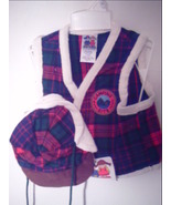 Good Lad - Christmas Boy's Plaid Flannel Vest and Hat Size 4T - $8.99