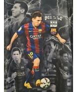 FCB Lionel Messi T-Shirt Performance LG BARCELONA SOCCER QATAR Licensed ... - $20.56