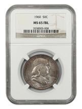 1960 50c NGC MS65 FBL - Franklin Half Dollar - $213.40