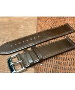 20mm Italian genuine leather watch band   Brown Premium calf Euro - $21.12