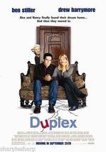 DUPLEX Ben Stiller Drew Barrymore Motion Picture Promotional Movie Poste... - $7.99
