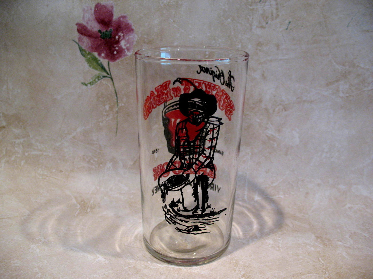 Original Bucket of Blood Saloon Casino Beer Glass Vintage Souvenir Virginia City