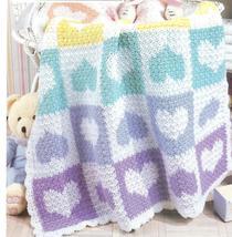 Baby Heartwarmer Afghan Crochet Pattern - $6.99