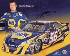 2011 MARTIN TRUEX JR #56 NAPA NASCAR POSTCARD SIGNED - $11.75