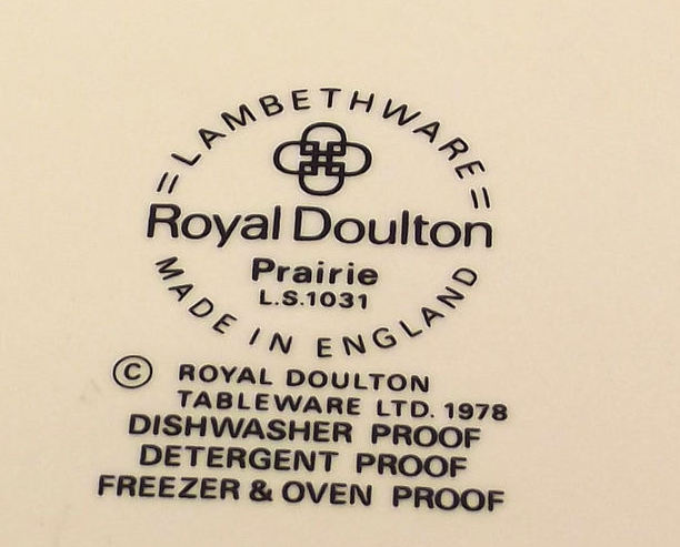 "Royal Doulton Lambethware 8.5"" Luncheon Plate Prairie LS1031"