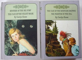 Nancy Drew Twin Thrillers 2 LOT Lavender covers #29, 30, 41, & 42 Caroly... - $9.00