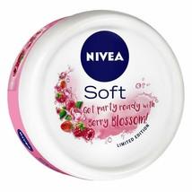 NIVEA Soft Light Moisturizer Berry Blossom With Vitamin E & Jojoba Oil, ... - $9.89