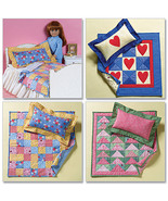 """Butterick Pattern #B4538 18"""" Doll Accessories Bed and Quilt - $17.00"""