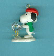 Sold Winter Fun With Snoopy 2010 Hallmark Miniature Ornament Christmas - $4.79