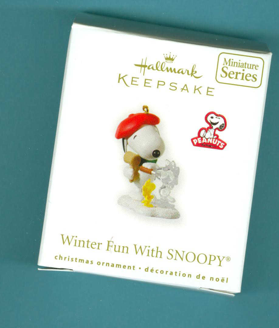 Sold Winter Fun With Snoopy 2010 Hallmark Miniature Ornament Christmas