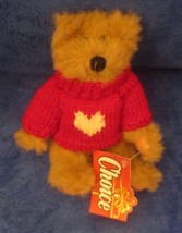 "1994 GANZ MOE JOINTED BEAR WITH RED VALENTINE HEART SWEATER 9"" CH1478 - $22.27"