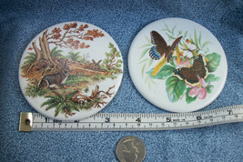 Rieveley Ceramic Trivet / Coasters Bunnies & Butterfly Design Made In Wales - $6.90