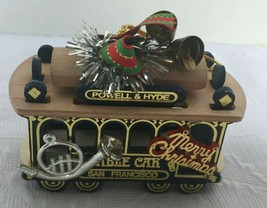 San Francisco Cable Car Christmas Ornament Powell Hyde Streets # 39 - $19.79