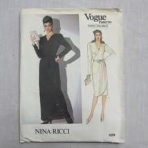 VTG Vogue Paris Original Misses' Dress Nina Ricci Pattern 1074 Size 8 Un... - $17.59
