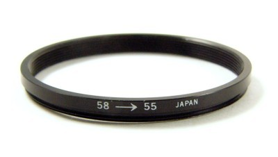 58mm-55mm Step Down Filter Ring Adapter