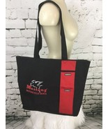 "Mustang Motorcycle Seats Tote Black Red Zippered 15"" X 15"" - $34.64"