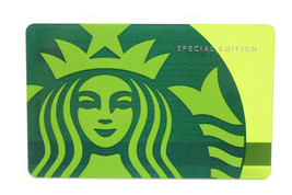 Starbucks Coffee 2010 Gift Card Siren Green Mermaid Special Edition Zero... - $18.79