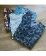 4 - scrub tops womens size M / L cottonality cherokee LA Rose - $26.18