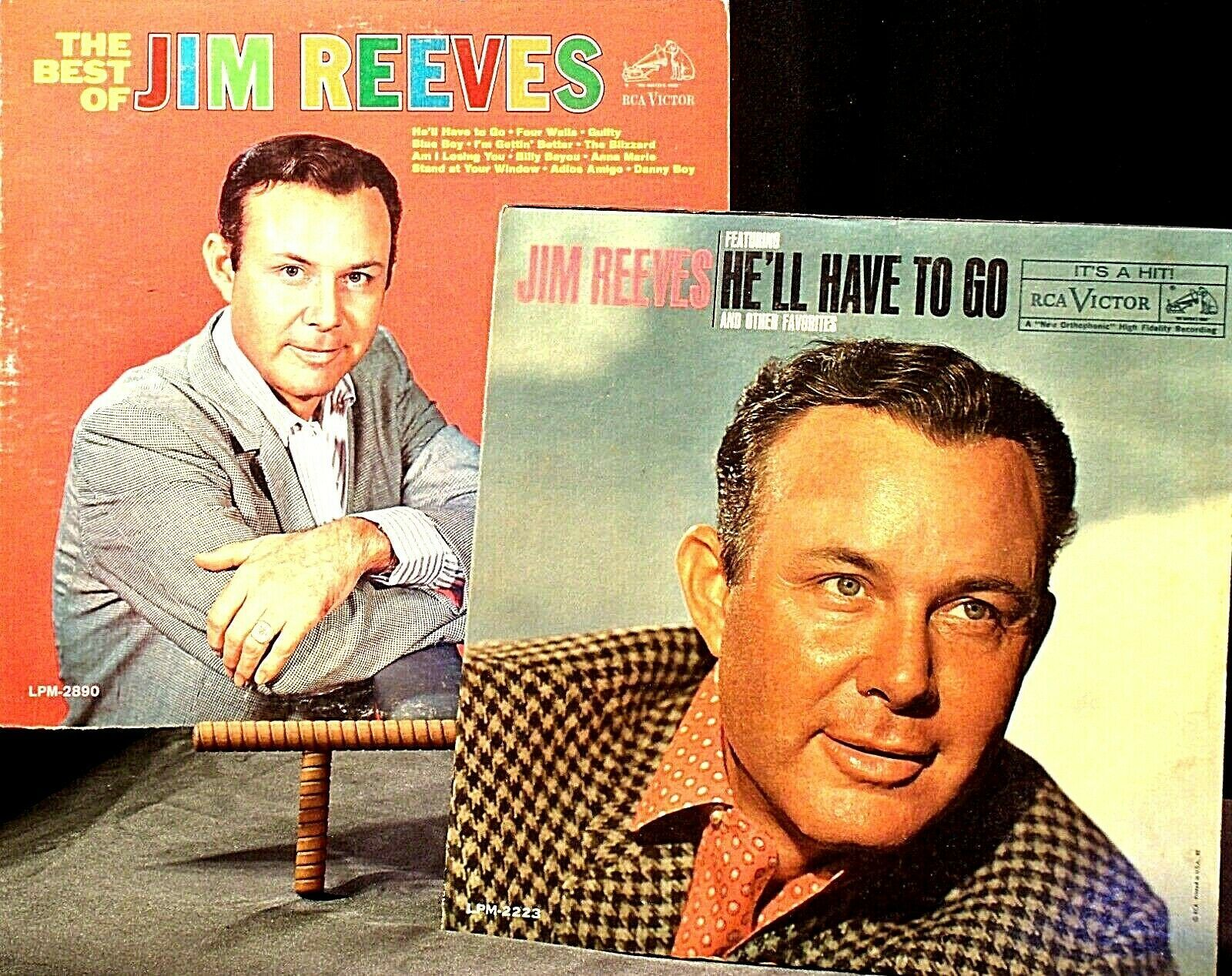 The best of Jim Reeves  and Jim Reeves- He'll Have To Go AA20-2118 Vintage