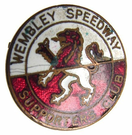 Rare 1949 BRITISH WEMBLEY LIONS Speedway Enamel Badge Brooch