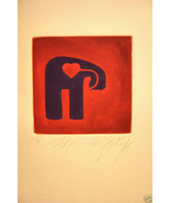 Linda Tay'nahza' Taynahza Elephant w/Heart LTD ED sign - $49.99