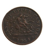 ANTIQUE Over 150 Years Old 1854 Upper CANADA One Penny Bank  - $19.99