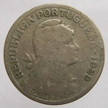 VINTAGE over 80 years old 1929 PORTUGAL 1 Escudo Copper Nick - $5.99