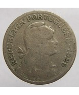 VINTAGE over 80 years old 1929 PORTUGAL 1 Escudo Copper Nick - €5,12 EUR