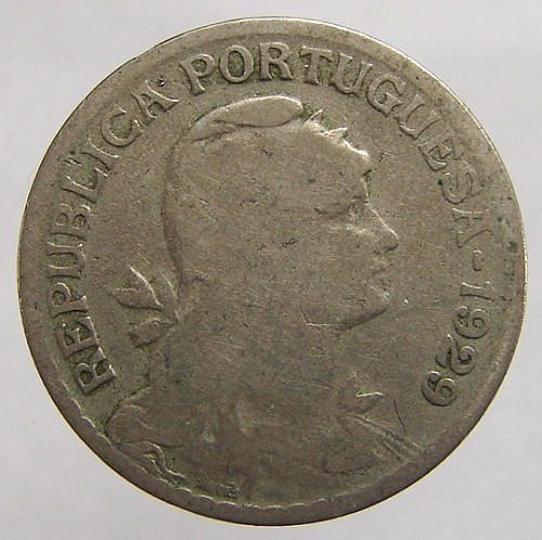 VINTAGE over 80 years old 1929 PORTUGAL 1 Escudo Copper Nick