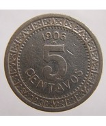 ANTIQUE Over 100 Years Old 1906 MEXICO 5 Centavos Nickel coi - €5,03 EUR
