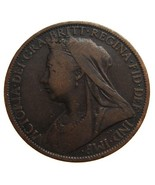 ANTIQUE Over 110 Years Old BRITISH 1900 Victoria One Penny l - $9.99